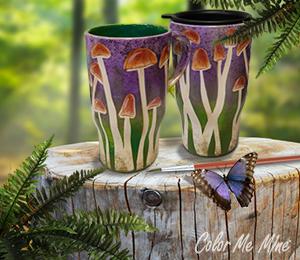 Riverside Mushroom Mugs