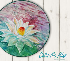 Riverside Lotus Flower Plate