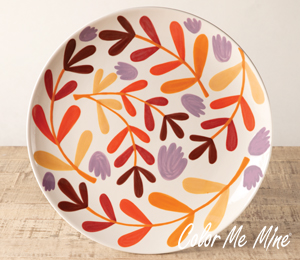 Riverside Fall Floral Charger